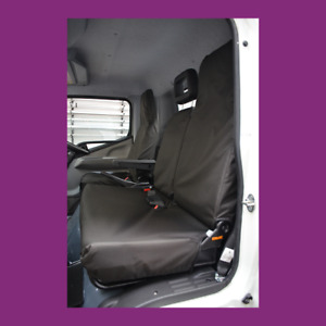 Mitsubishi Fuso Canter 2006+ Tailored Waterproof Front Triple Black Seat Covers