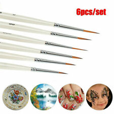 6Pcs Detail Paint Brushes Set Miniature Art Brushes For Fine Detailing Craft HOT