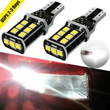 Pair T15 LED Reverse Lights 921 912 Backup TRUCK Canbus ERROR FREE Bulb Cargo