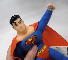 "Flying SUPERMAN Plush Vinyl Head Justice League 10"" KellyToy Stuffed Superhero"