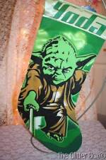 Star Wars Christmas Stockings Kurt Adler Green Yoda New 16""