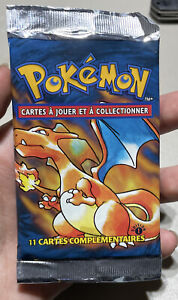 Pokemon 1st Edition Base Set Booster Pack French EMPTY Charizard Art NO CARDS