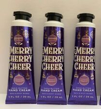 3 Bath & Body Works Shea Butter Hand Cream Merry Cherry Cheer Travel Size 1oz