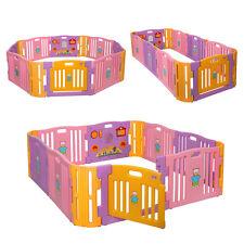 12 Playpen Play Center Yard Baby Kids Panel Safety Home Indoor Outdoor Pen Plus