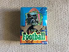 1986 TOPPS FOOTBALL WAX BOX AUTH BY THE BBCE