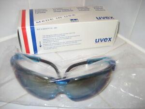 UVEX S3243 GENESIS Eyewear Industrial Protective Vapor Blue Frame Mirror Lens