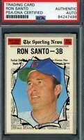 Ron Santo PSA DNA Coa Autograph 1970 Topps Hand Signed
