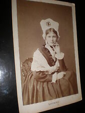 Cdv cabinet photograph a woman of Lorraine France c1880s