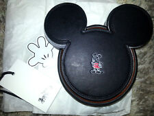 COACH X DISNEY 6 Leather Coasters MICKEY MOUSE Collectible LIMITED EDITION SET
