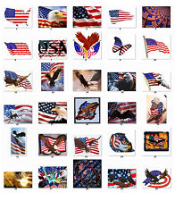 Personalized US flag Independence Day Address Labels Buy 3 Get 1 {f1}