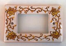 placca copri interruttore in ceramica A 4 FORI LIV TSA