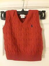 Baby Boy Ralph Lauren Polo V-Neck Sweater Vest 18M