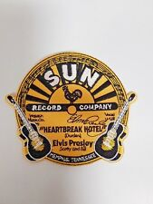 Elvis Presley Round Sun Record Heartbreak Hotel 2 Guitars Sew / Glue on Patch