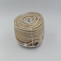 1/2″ x  100′ Premium Double Braid Nylon Anchor Line with Thimble Gold & White
