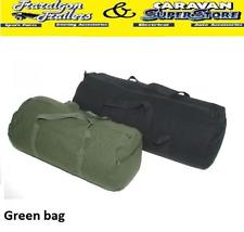 Gear Bag Medium Green Heavy Duty Overnight Travel Cotton Canvas 60l Duffle Bp6