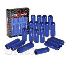 20Pc M12X1.5Mm Thread Aluminum Racing Extended Closed End Lug Nut Jdm [Blue]