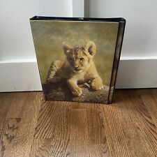 Vintage Lion Monkey Creative Trapper Keeper with Folder Wild And Wonderful &