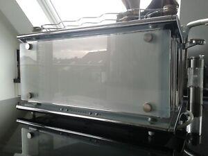 Designer Toaster Russell Hobbs Glas line weiß silber (Russel)