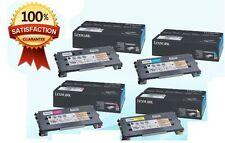 Genuine Lexmark Full Set C500S2KG C500S2CG C500S2YG C500S2MG X500N,X502N,C500N