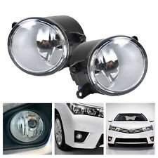 Pair Fog Lights Lamps For Toyota Yaris RAV 4 Camry Avalon Corolla Lexus Matrix