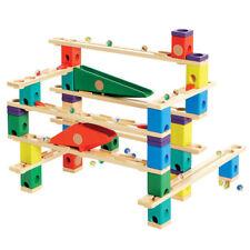 Hape Kid's Autobahn Quadrilla Wooden Puzzle Marble Run Racing Play Maze Set