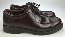 Waterproof Cole Haan Men 14M Burgundy Leather Split Toe Lace Up Low Boots Oxford