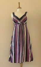 Monsoon Strappy Cotton Summer Dress Size 14 Ex Condition