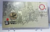 2018 $1 Coin UNC End of WWI 100th Anniversary P Mintmark PNC 1st Day Issue