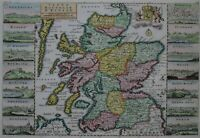 Schottland - Carte Nouvelle d'Ecosse - de la Feuille 1729 - Rare map of Scotland