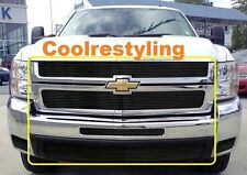 For 07 08 09 10 11 12 13 Chevy Silverado 1500 Black Billet Grille Combo Inserts