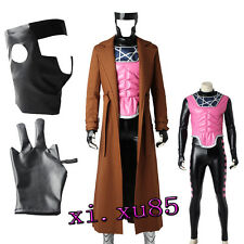 Custom Made X-Men Gambit Remy Etienne LeBeau Cosplay Costume Gambit Full Suit