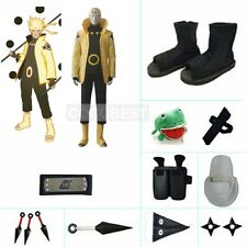 Naruto Six Paths Sage Mode costume Halloween cosplay Black Ninja shoes holster