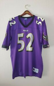 Ray Lewis Baltimore Ravens Vintage Jersey Champion Authentic Large Size 44