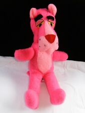 """Vintage 1964 Pink Panther Plush Stuffed Toy By Mighty Star 15"""" Tall Mint"""