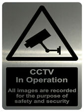 729 CCTV in Operation Safety Metal Aluminium Plaque Sign Wall House Office Pub