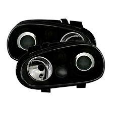 2 FEUX PHARE AVANT NOIR POUR VW GOLF 4 LOOK R32 AVEC ANTIBROUILLARD