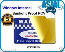 Heavy Duty Vinyl PVC Alarm Warning Sign Widow Internal Security Warning Sticker