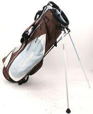 New listing Titleist Stand Golf Bag Yale Bulldogs Logo 6-Way Top Matching Brown Rain Hood