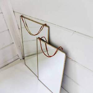 Kiko Brass Mirror by Nkuku 30 x 30cm, Hanging Wall Mounted Mirror, Fair Trade