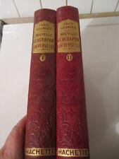 Rare Ernest Grangler Nouvelle géographie Universelle Hachette de 1922 2 tomes
