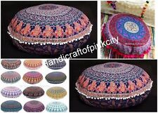 Mandala Floor Pillows Wholesale Round Tapestry Cushion Cover pouf 2 pcs Lot SS3