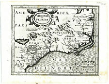 1606 Genuine Antique map Virginia & Florida. G. Mercator
