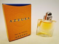 MINIATURE AZZARO AZZURA PARFUM POUR FEMME EAU DE TOILETTE 5 ML PLEINE RARE