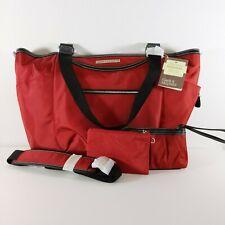 "Clark and Mayfield Bellevue 18.4"" Laptop Handbag, Computer Bag w/ extras Red"