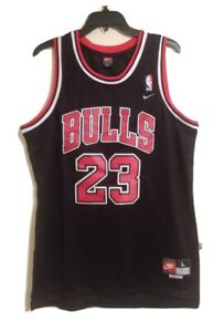 Nike Team Vintage Jordan Chicago Bulls Jersey Black size Large #23