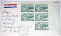Alliierte Zensurstelle Z. 1 104 Brief Chicago USA 1953 Besetzung Österreich (80