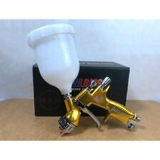 Devilbiss Gti Pro LITE TE20 Gravity Spray Paint Gun 1.3 mm 600 ml Cup Gold Color