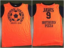 Vintage Youth 70s 80s Columbus Athletic Team Soccer Jaws Mothers Pizza T-Shirt