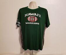Hawaii Warriors Adult Large Green Football Jersey