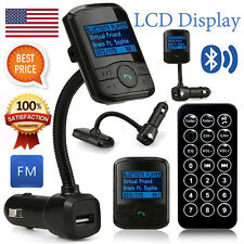 Car Kit Bluetooth MP3 Player LCD Display FM Transmitter USB With Remote Control